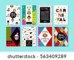 carnival templates in memphis... | Shutterstock .eps vector #563409289