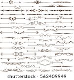 set of decorative elements for... | Shutterstock .eps vector #563409949