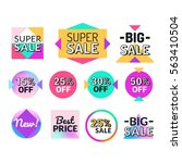 set of flat design sale... | Shutterstock .eps vector #563410504