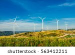 wind turbines in the  morning... | Shutterstock . vector #563412211