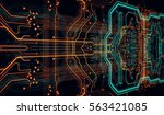 circuit board background  can... | Shutterstock . vector #563421085