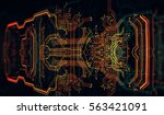 circuit board background  can... | Shutterstock . vector #563421091