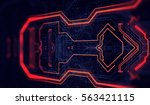 circuit board background  can... | Shutterstock . vector #563421115