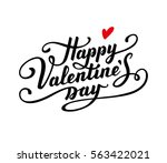 happy valentine's day text.... | Shutterstock .eps vector #563422021