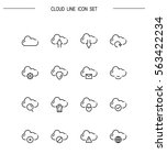 cloud flat icon set. collection ... | Shutterstock .eps vector #563422234