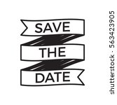 save the date wedding... | Shutterstock .eps vector #563423905