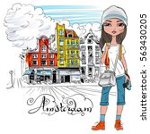 Fashionable Hipster Girl...