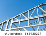 new technology steel frame for... | Shutterstock . vector #563430217