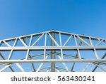 new technology steel frame for... | Shutterstock . vector #563430241