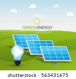 solar panel vector illustration | Shutterstock .eps vector #563431675