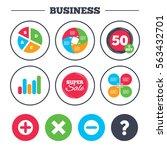 business pie chart. growth... | Shutterstock . vector #563432701