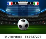 soccer football stadium... | Shutterstock .eps vector #563437279