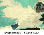 old grunge ripped torn vintage... | Shutterstock . vector #563454664