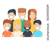 diverse group of people ... | Shutterstock .eps vector #563455039
