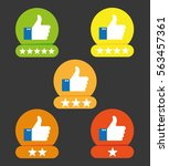 consumer rating flat icon | Shutterstock .eps vector #563457361