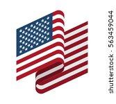 usa flag isolated. america... | Shutterstock .eps vector #563459044