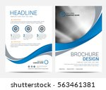 brochure template flyer design... | Shutterstock .eps vector #563461381