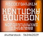 decorative vintage font on the... | Shutterstock .eps vector #563462029