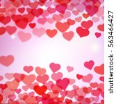 valentines day background with... | Shutterstock . vector #563466427