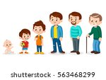 growing up people at different... | Shutterstock .eps vector #563468299