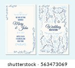 wedding invitation  thank you... | Shutterstock .eps vector #563473069