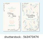 wedding invitation  thank you... | Shutterstock .eps vector #563473474