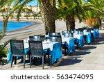 outdoors restaurant near the...   Shutterstock . vector #563474095