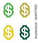 vector dollar sign symbol   Shutterstock .eps vector #563477005
