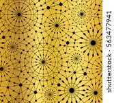 vector gold black abstract... | Shutterstock .eps vector #563477941
