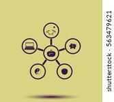 infographic template. family... | Shutterstock .eps vector #563479621