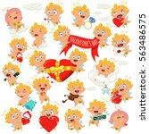 cupid or angel illustration.... | Shutterstock .eps vector #563486575