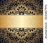 vector background with gold... | Shutterstock .eps vector #563487991
