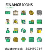 simple modern set of finance... | Shutterstock .eps vector #563493769