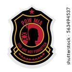 army badge typography  t shirt... | Shutterstock .eps vector #563494537