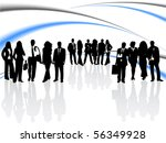 illustration of business people | Shutterstock .eps vector #56349928