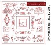 vintage valentines set of...   Shutterstock .eps vector #563503057