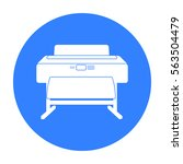 large format printer icon in... | Shutterstock .eps vector #563504479