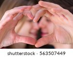 sweet couple kissing and make a ...   Shutterstock . vector #563507449