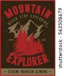 vintage vector of wilderness...   Shutterstock .eps vector #563508679