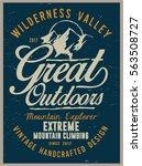 vintage vector of wilderness... | Shutterstock .eps vector #563508727