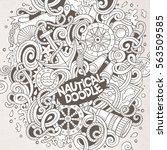 cartoon cute doodles hand drawn ... | Shutterstock .eps vector #563509585