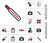 thermometer icon  medical tools ... | Shutterstock .eps vector #563512159