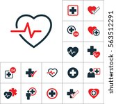 cardiology wave monitor heart... | Shutterstock .eps vector #563512291