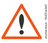attention triangle vector... | Shutterstock .eps vector #563516365