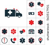 ambulance van icon  medical set ... | Shutterstock .eps vector #563517931