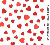 seamless pattern with hearts.... | Shutterstock .eps vector #563518849
