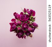 Bouquet Of Purple Roses On A...