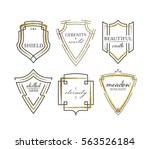 graphical shields with... | Shutterstock .eps vector #563526184