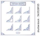 vector set of elements for... | Shutterstock .eps vector #563528935