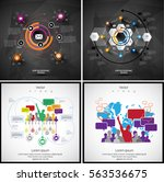 modern infographic  vector | Shutterstock .eps vector #563536675